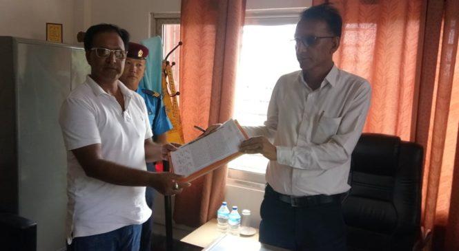 सिलिगुडी काठमाण्डौ बस सेवा बिरुद्ध सिडियोलाई ज्ञापन पत्र