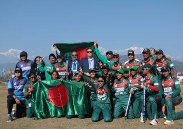 साग महिला क्रिकेट- बंगलादेशलाई स्वर्ण