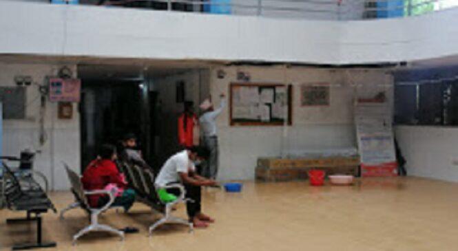 पानी चुहिँदा अस्पतालको बिजोग, सञ्चालनमा आएको ८ वर्षमै जीर्ण