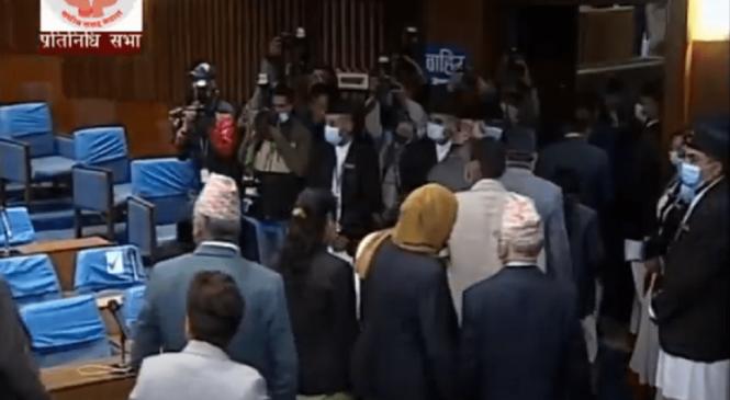 प्रचण्ड-माधव समूहद्वारा प्रतिनिधि सभा बैठक बहिष्कार