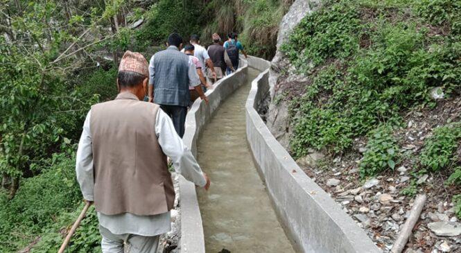 सिचाँई कूलो निमार्णले २० हजार रोपनी खेतबारीमा सहजै पानी