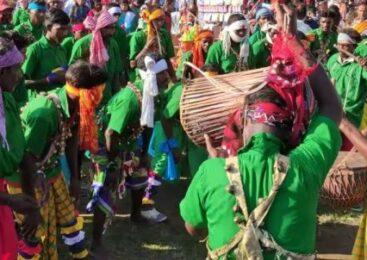 सन्थाल नृत्यमा राजगढ टोली प्रथम